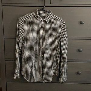 Ann Taylor Factory Gingham Button Down S